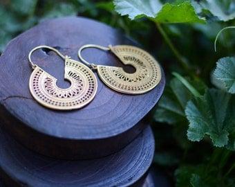 Tribal earrings,Boho jewelry, Indian earrings,hoop earrings,Tribal Warrior,Bohemian Style Earrings,Gypsy Earrings, bohemian fashion,festival