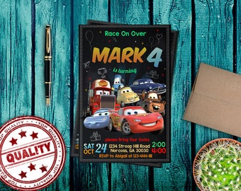 cars,cars invitations,cars birthday,cars party,cars invite,cars invitations,cars birthday invited, mc queen party