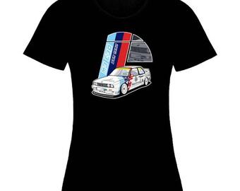 Inspired By BMW M3-E30 Emblem Logo Auto Moto Woman T-Shirt