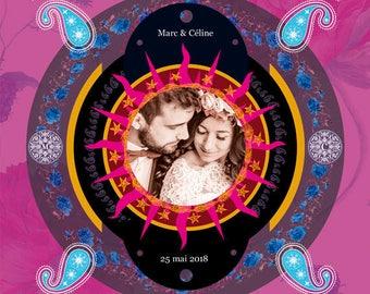 WEDDING design, Digital art, Digital Art, icon, print, Illustration, frame for frame, wedding, gift, family, memory
