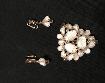 Cathe Classy Brooch with Earrings