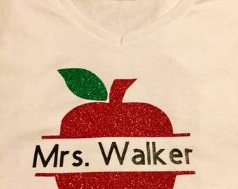 Apple Teacher Name Shirt