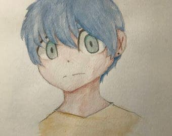 Original anime watercolor
