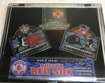 2004 Boston Redsox World Series Pins. Set Of 4. 2004 Champion Pin Set. Brand New