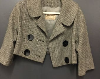 Cropped Tweed Vintage Jacket