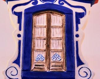 Handmade plaster window/hand Painted plaster window