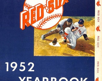 1952 BOSTON RED SOX - Vintage Baseball Poster