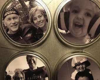 Mason Jar Lid Photo Ornament