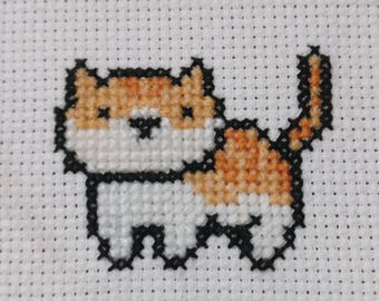 Neko Atsume Pumpkin Cross Stitch Pattern