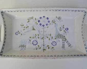Figgjo Flint Lotte Turi Design - Serving Dish / Platter - Norway 1960s Vintage Kitchenware