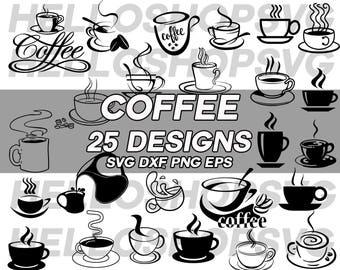 coffee svg, coffee cup svg, drink svg, clipart, decal, stencil, cut file, silhouette, cricut file, silhouette file