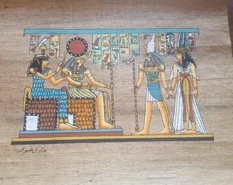 Egyptian Papyrus handmade hand painted