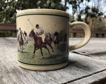 Vintage 1988 Polo Coffee Cup - horses ralph lauren coffee tea