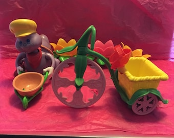 Vintage Strawberry Shortcake Berry Busy Bug Worm Train and Berry Tricycle from the 1980's