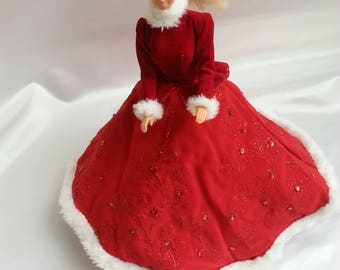 Barbie Doll Early American Christmas Gown