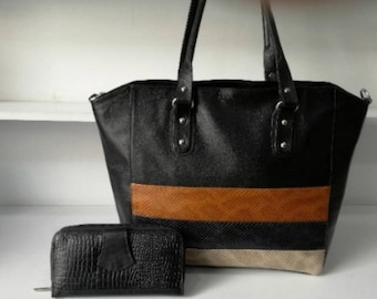 Handmade Leather Handbag and Wallet