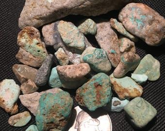 Genuine turquoise nuggets and specimens lot