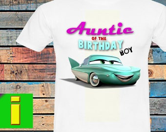 Auntie, Cars Iron On Transfer, Cars Birthday Shirt Iron On Transfer, Cars Birthday Party Shirt, Instant Download, Digital File Only
