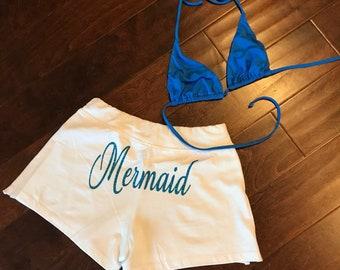 White Mermaid Shorts