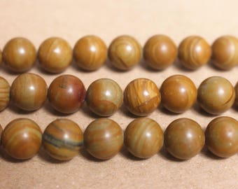 15 inches Full strand,Grade A yellow wood jasper smooth round beads 6mm 8mm 10mm 12mm,loose beads,semi-precious stone