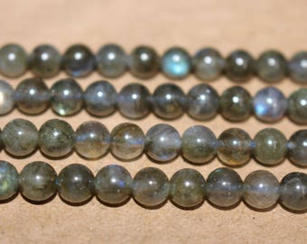 6mm Natural Black Labradorite beads Wholesale,loose beads,semi-precious stone,15 Inches Full strand,