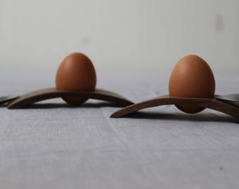 2 eggs Cups designs from Walnut wood