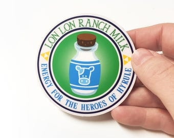 Zelda Lon Lon Ranch Milk Sticker