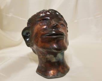 copper head Raku fired