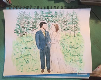 Custom 9x12 Wedding Photo