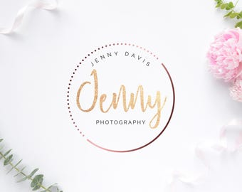 Template Logo Design, Photography Logo, Photographer Logo, Rose Gold Logo, INSTANT DOWNLOAD Logo, Premade Logo, DIY Logo, Logo Design