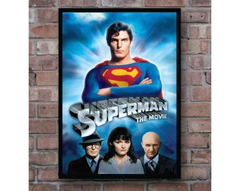 Superman the movie classic retro film print home decoration poster