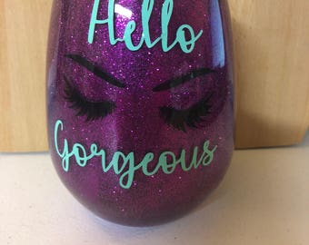 Hello Gorgeous brush jar