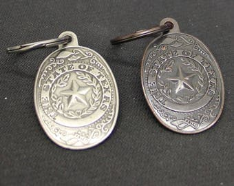 State of Texas Stamped Keychain SKU 24