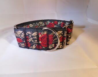 "2"" Ruby Rose Martingale Dog Collar"