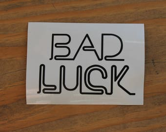 Retro Bad Luck Vinyl Decal Sticker