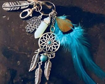 Vintage Feather Key Chain