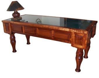 Executive desk made from Hawaiian Koa wood