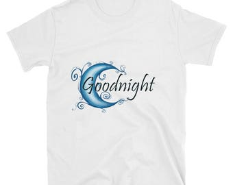 Moon Goodnight Short-Sleeve Unisex T-Shirt