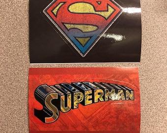 Lot of 2 Superman Logo Stickers