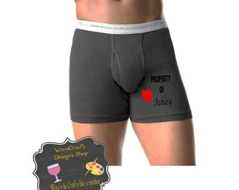 Personalized Boxers - Valentine Boxers - Naughty Boxers - Funny Boxer Briefs - Groom Boxers - Gifts For Him - Anniversary Gift for Him