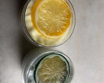 Lemon Lime meringue pie 4oz duo