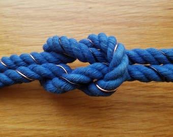 Wire Wrapped Nautical Collar, Durable Day Collar, BDSM Collar, Pet Play Collar