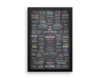 """Framed """"Be Better"""" Poster"""