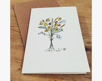 Greetings Card - Wildflowers
