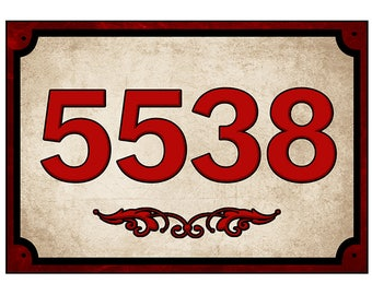 House numbers Sign, Address Sign, Customized numbers, Re-positional Sign, 7 by 10 inches, with fast and free shipping.