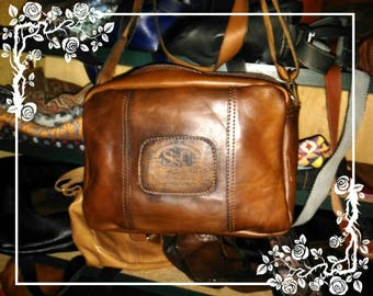 Cognac leather bag