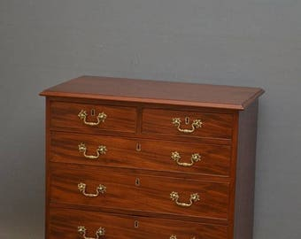 SN4032 A fine quality George III, mahogany chest of drawers