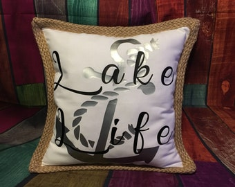 Lake Life 18x18 Pillow Cover (pillow not included)