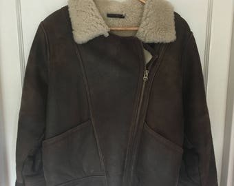 RealSheepskin Vintage Aviator Jacket