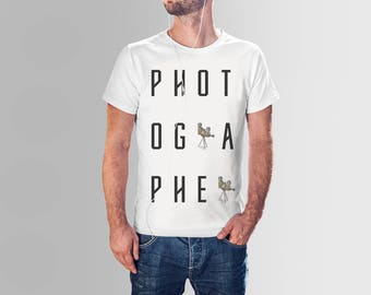 Photographer Spelled Out All-Over Printed T-Shirt